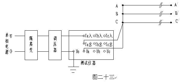 图二十二中参数,  Ia、Ib、Ic:分别为a相、b相、c相的电流有效值,单位:A;  I:a、b、c三相电流平均值,单位:A;  Uab、Ubc、Uca:分别为ab相、bc相、ca相的线电压有效值,单位:KV;  U:Uab、Ubc、Uca的平均值,单位:kV;  Pa、Pb、Pc:分别为a相、b相、c相的有功功率,单位:W;  P:a、b、c三相的总功率,单位:W;  f:工频频率,单位:Hz;  y:正序导纳,单位:S(西门子),E-6表示测试结果再乘以10-6;  b:正序电纳,单